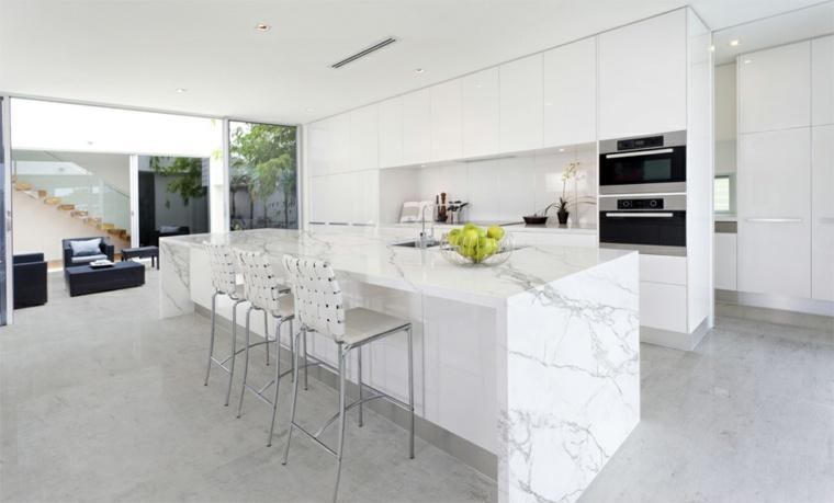 Encimeras para cocina con ca da de agua - Encimeras cocinas blancas ...