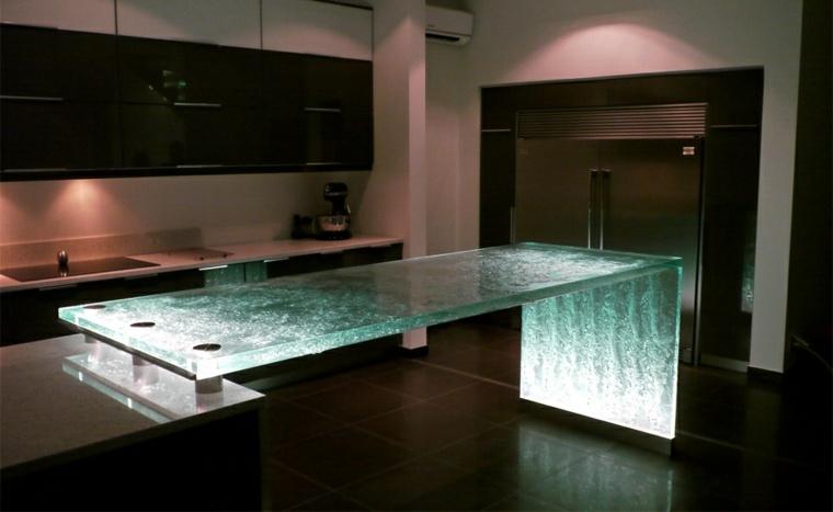 Encimeras para cocina con ca da de agua - Encimeras de cocina de cristal ...