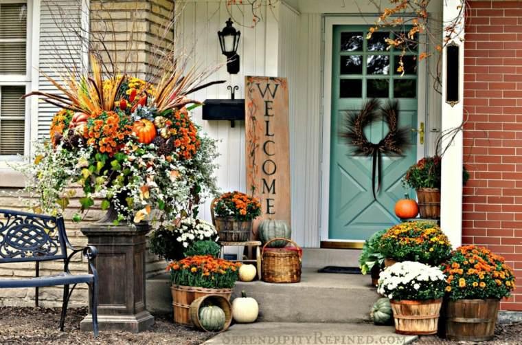 entrada casa decoración otoño