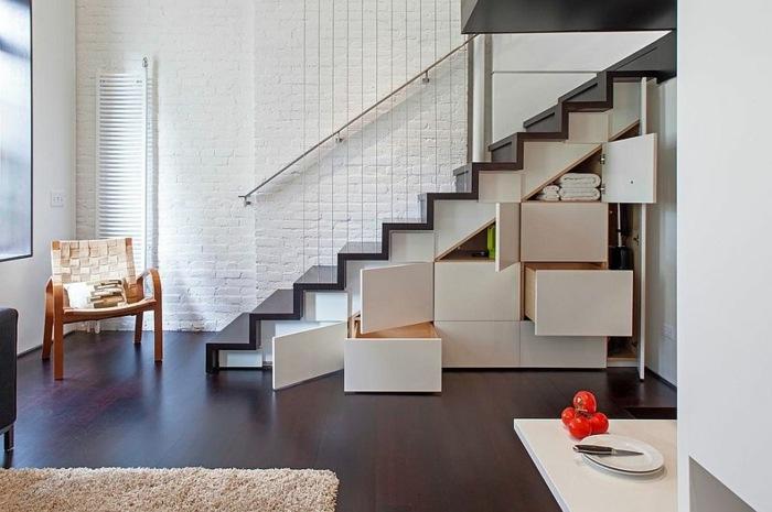 escaleras de madera almacenamiento bases sillones