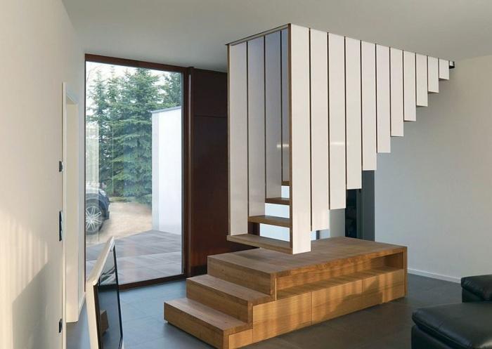 escaleras de madera plataformas estilos suelos