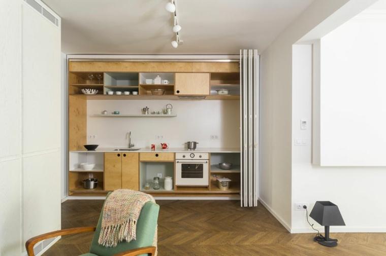 estanterias abiertas cocina sen diseno