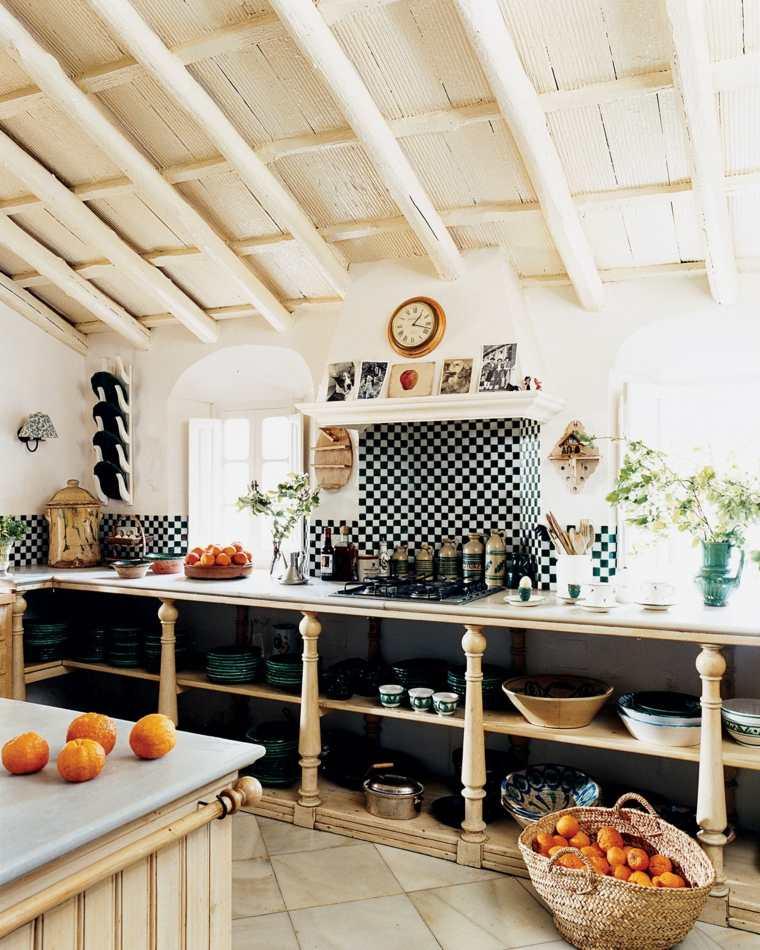 estantes abiertos muebles cocina ideas