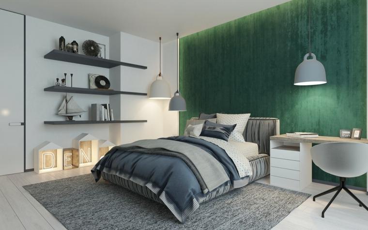estantes funcionales materiales colores lamparas