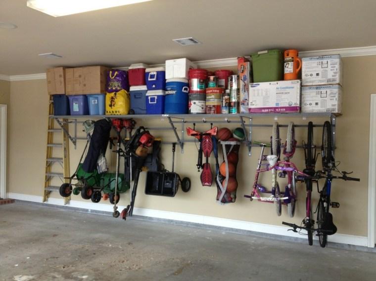 estantes para almacenar bicis