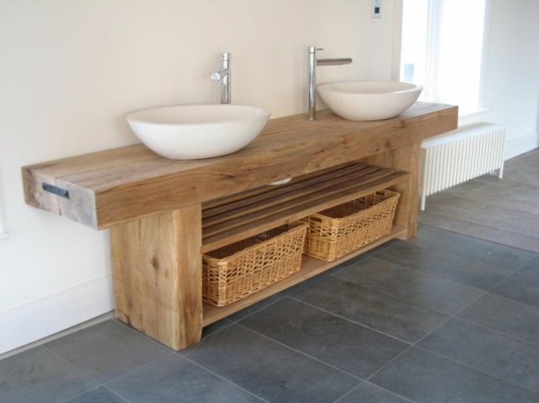 esteupendos lavabos mueble madera