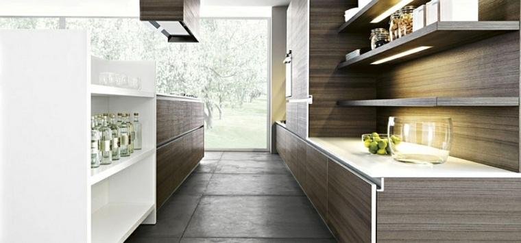 estantes cocina madera laminada