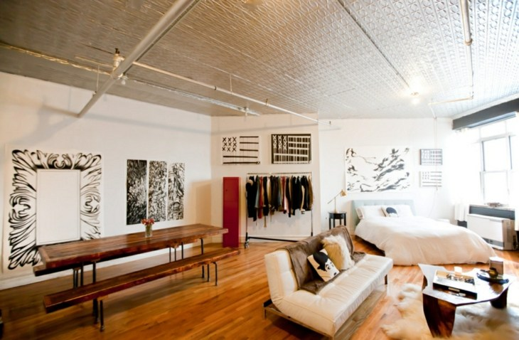 estudios industrial estilo apartamento madera