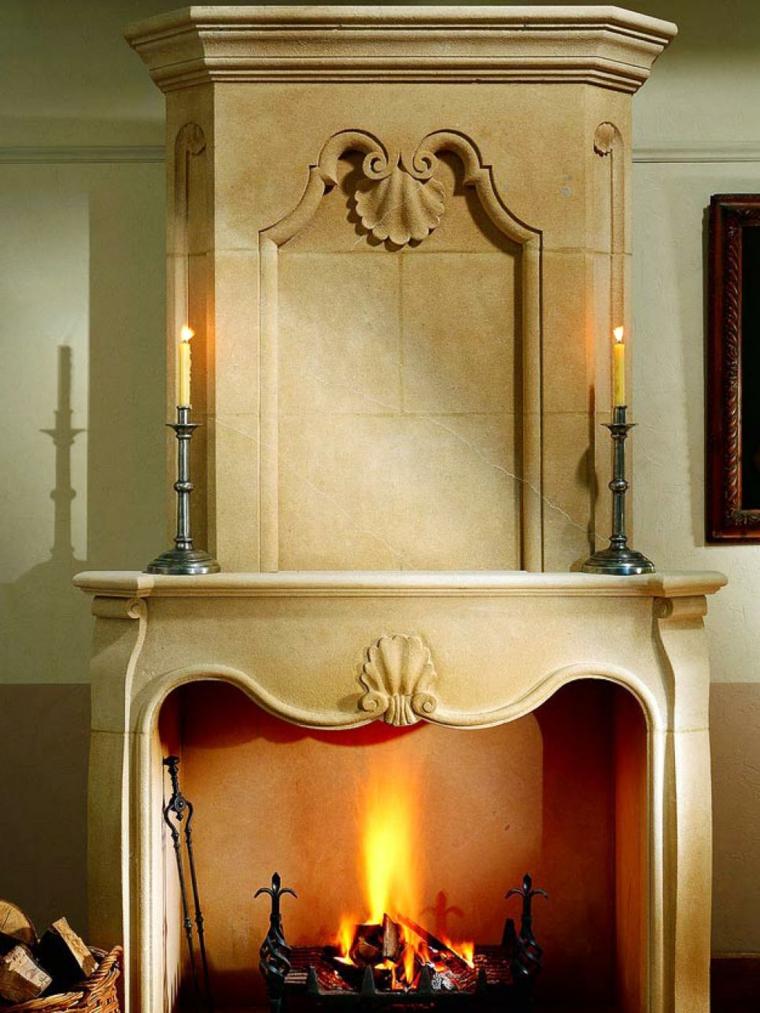 estupenda chimenea diseno marmol