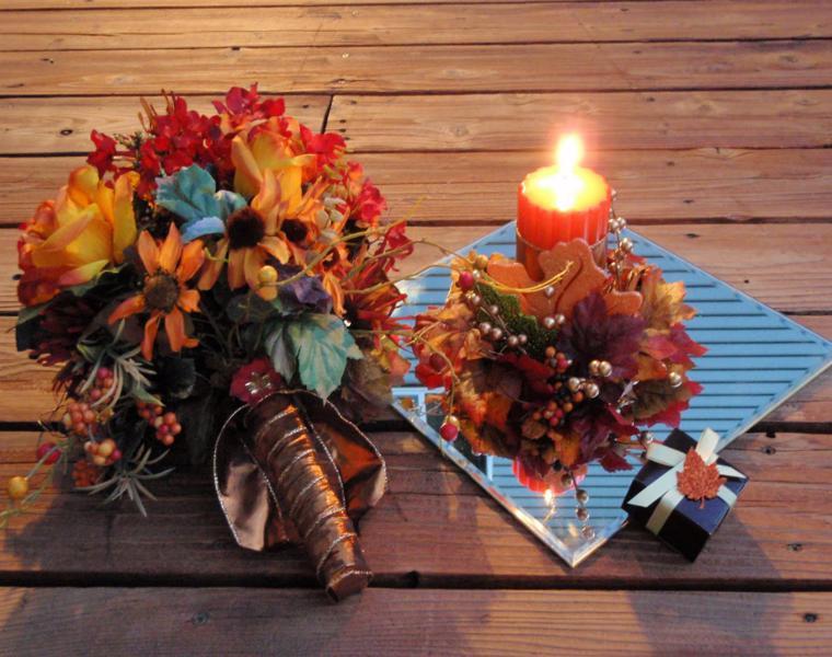 estupenda decoración mesa jardin