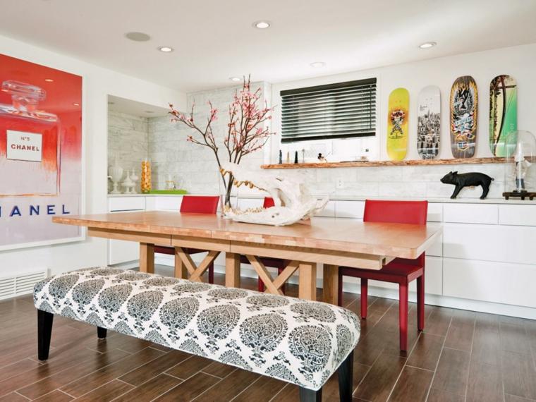 Decoracion salon comedor ideas para ahorrar espacio for Ideas decoracion comedor