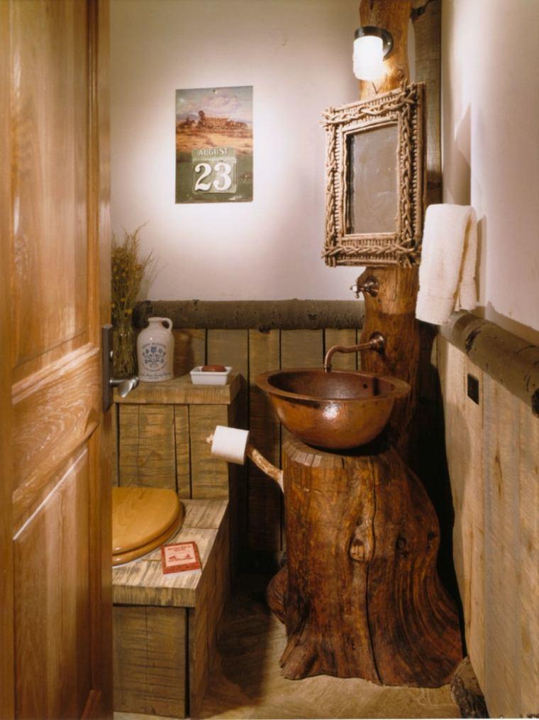 Lavabos rusticos paz y relax en el cuarto de ba o - Lavabos de diseno ...