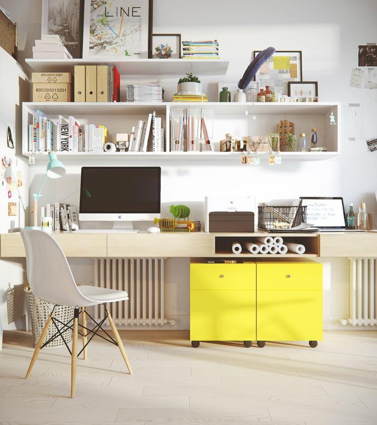 estupendo diseño mueble amarillo