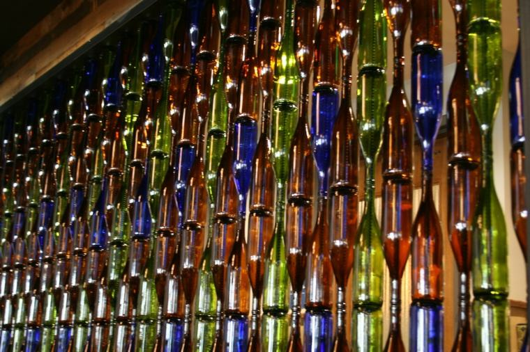 excepcional diseno paredes botellas vino ideas