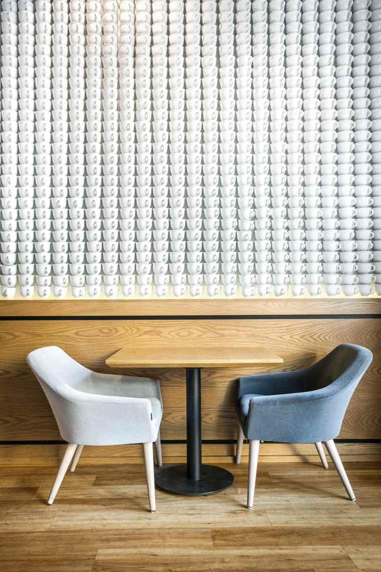 excepcional diseno paredes tazas cafe ideas