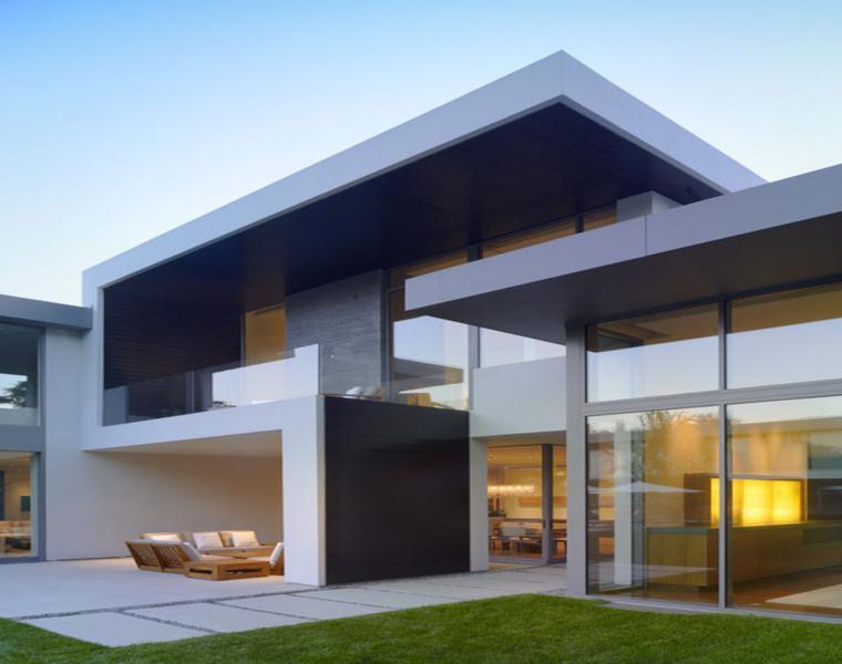 original fachada moderna estilo minimalista casas minimalistas - Casas Minimalistas