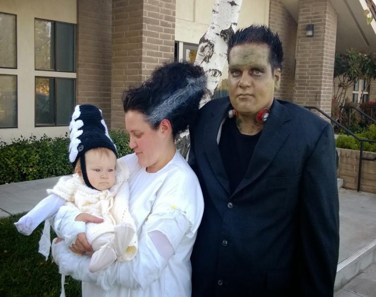 familia estupendos trajes halloween monster