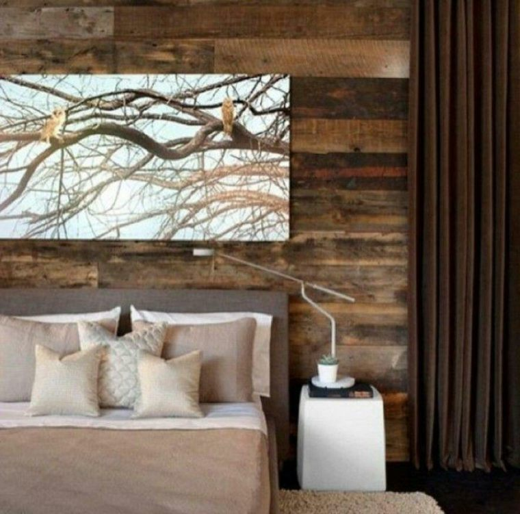 Paredes con madera para dormitorios - Forrar paredes de madera ...