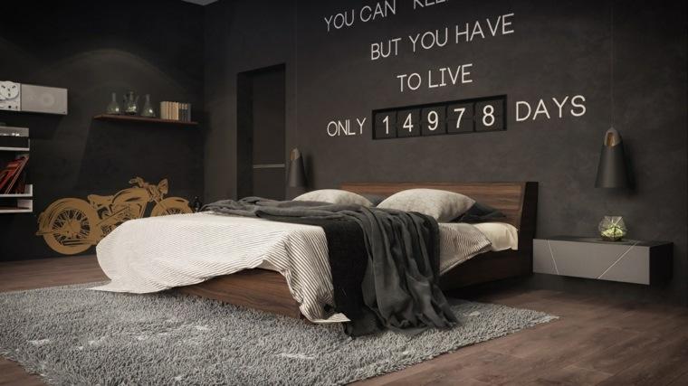 fotos de dormitorios alfombras efectos letras