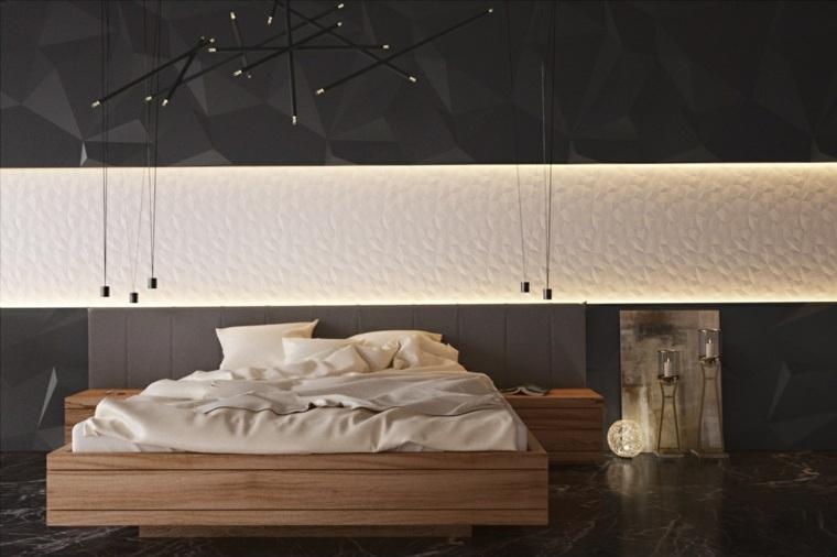 fotos de dormitorios modernos color madera