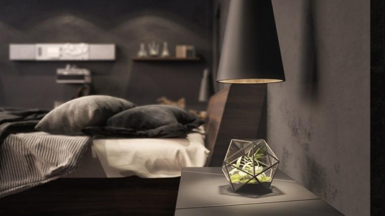 fotos de dormitorios plantas luces focales flores