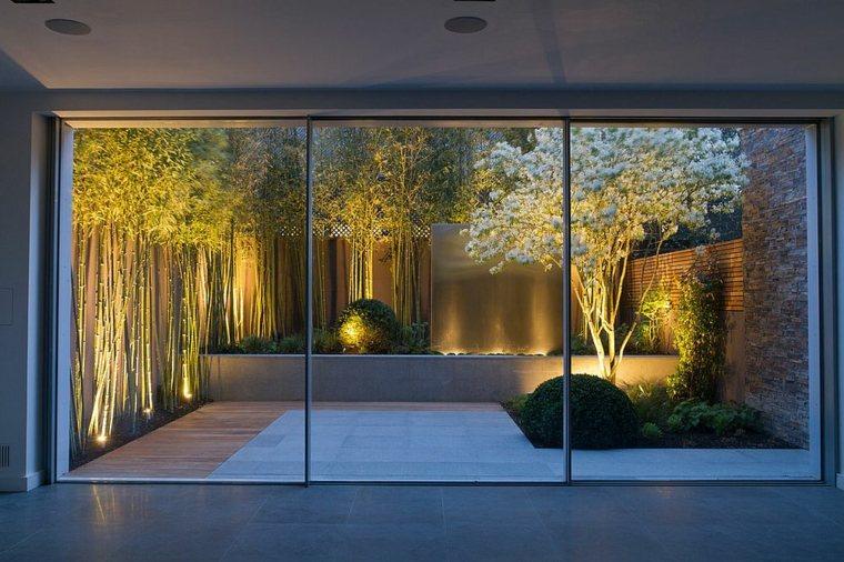 fotos de paisajes bambu jardines cristales
