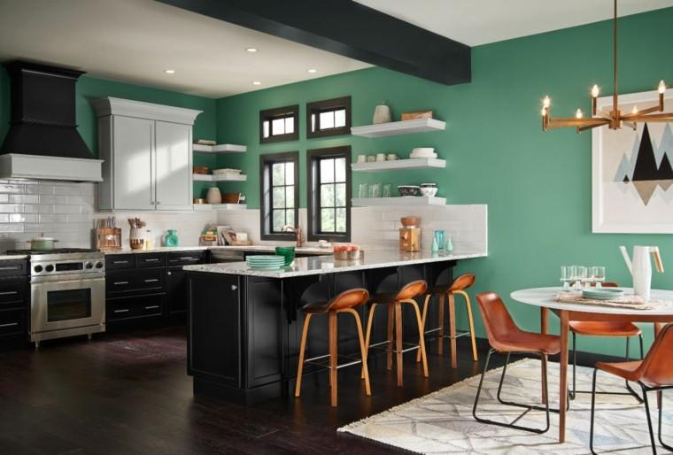 gama de colores para pintar paredes cocina comedor ideas