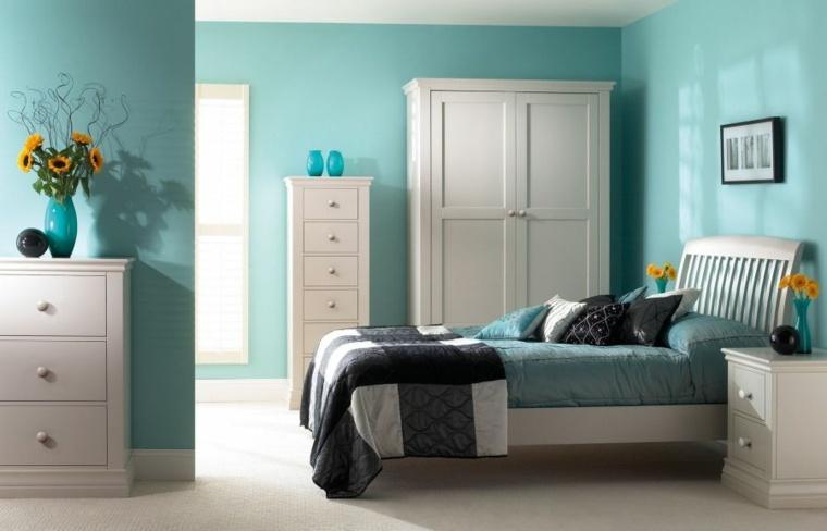 gama de colores para pintar paredes color turquesa ideas
