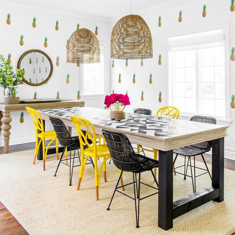 Gama de colores para pintar paredes y animar el dise o - Colores de comedor ...