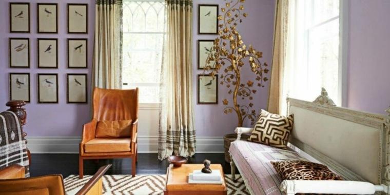 gama colores pintar paredes purpura ideas