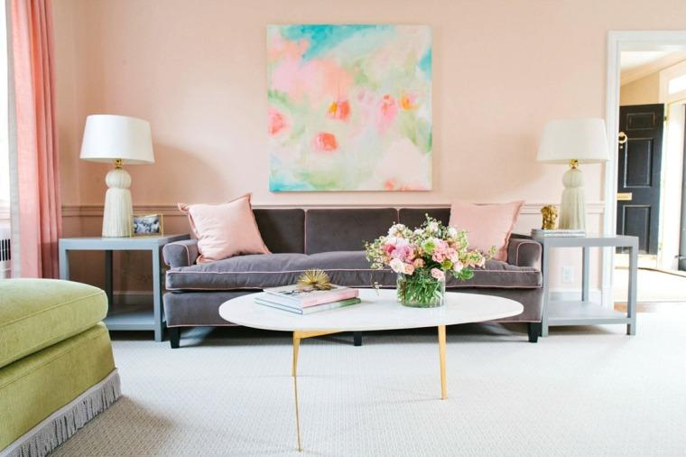 gama colores pintar paredes rosa claro ideas