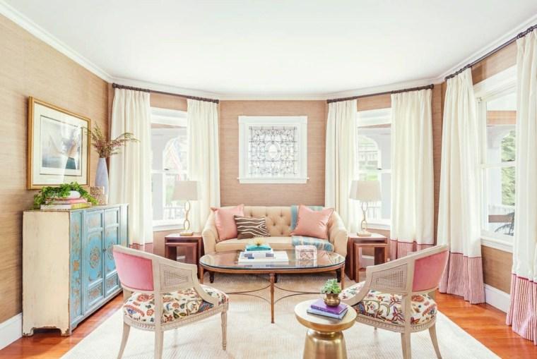 gama colores pintar paredes rosa femenino ideas