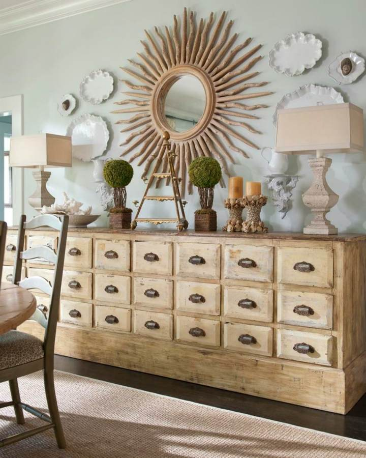 gruesos candelabros tono madera lamparas