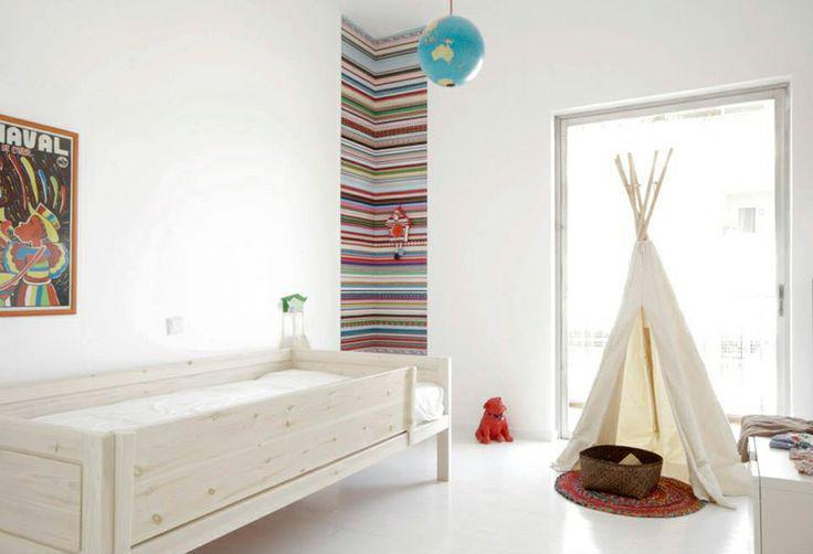 habitación infantil cama madera