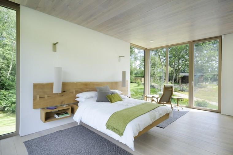habitación moderna cama flotante