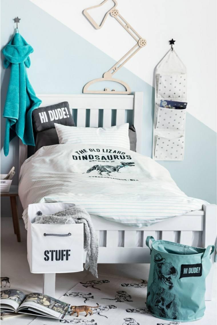 habitaciones ninos cama blanco ideas