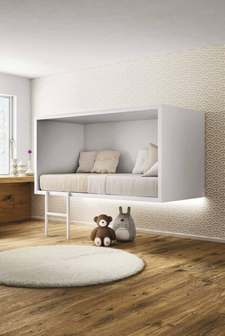 habitaciones ninos cama flotante ideas