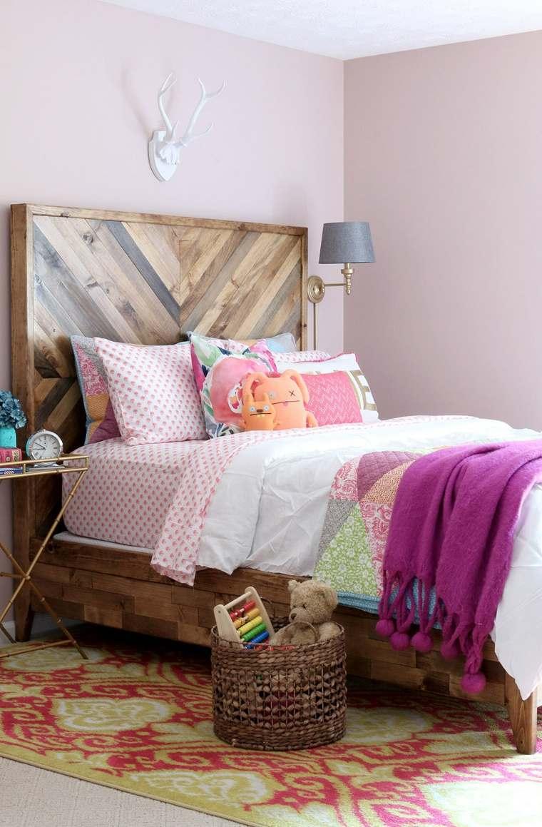 habitaciones ninos cama madera original ideas