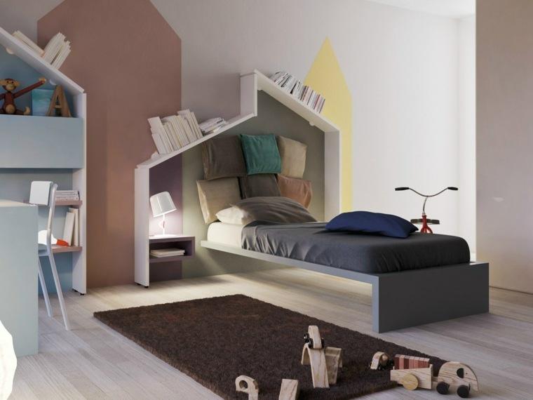 habitaciones ninos estantes originales pared ideas