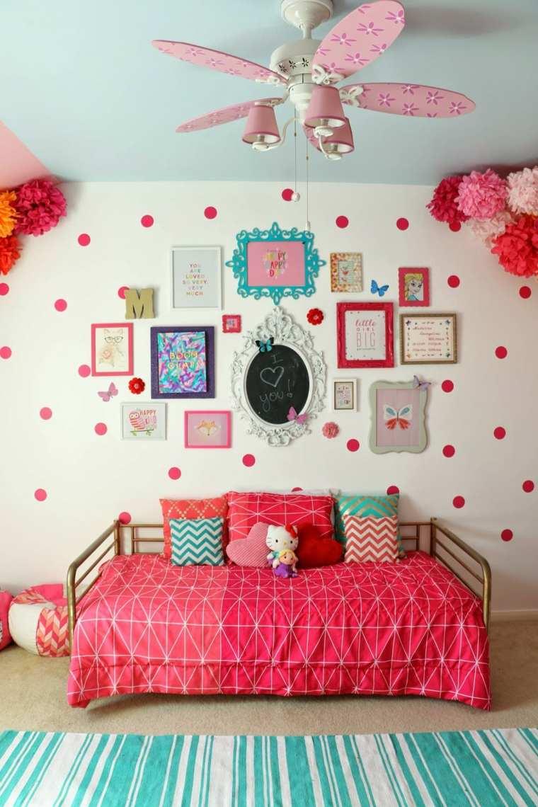habitaciones ninos pared decorada ideas