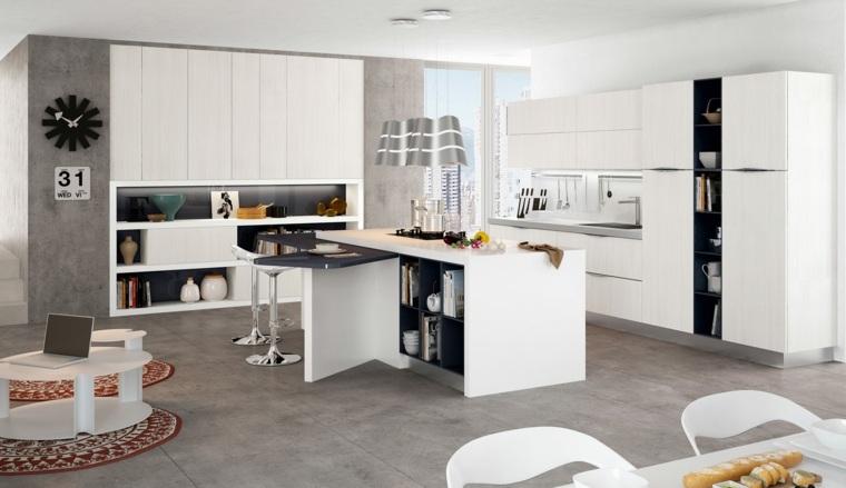 ideas cocinas espacio almacenamiento paredes
