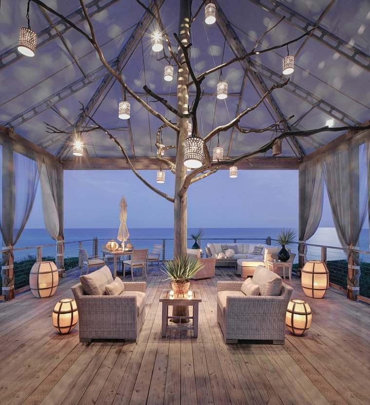 iluminacion exterior ideas playas conceptos ramas