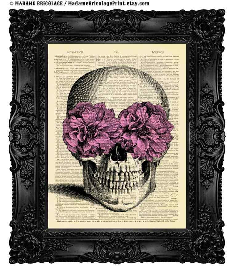 imagen papel libro calavera