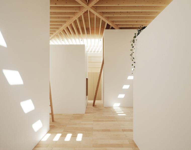 interior estilo minimalista blanco madera