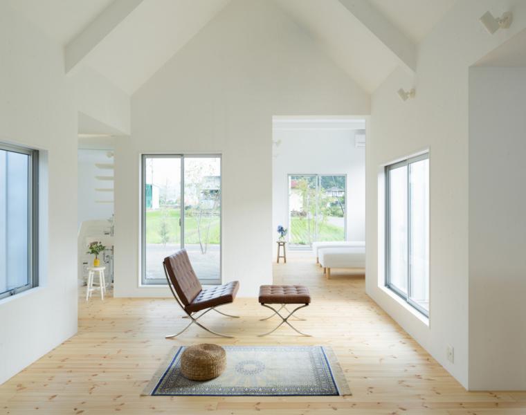 interior estilo minimalista sulo madera