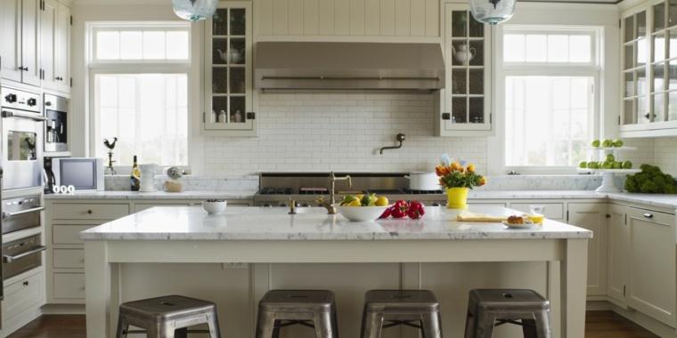 cocina moderna mesa grabnde