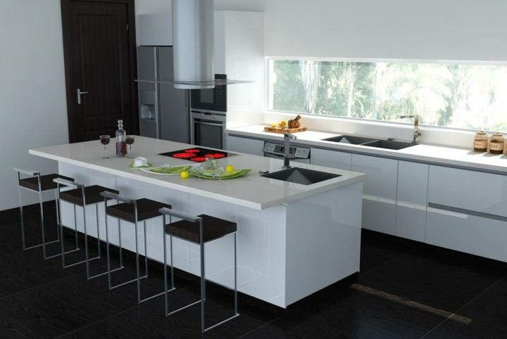 islas geometricas cocinas salas sillas