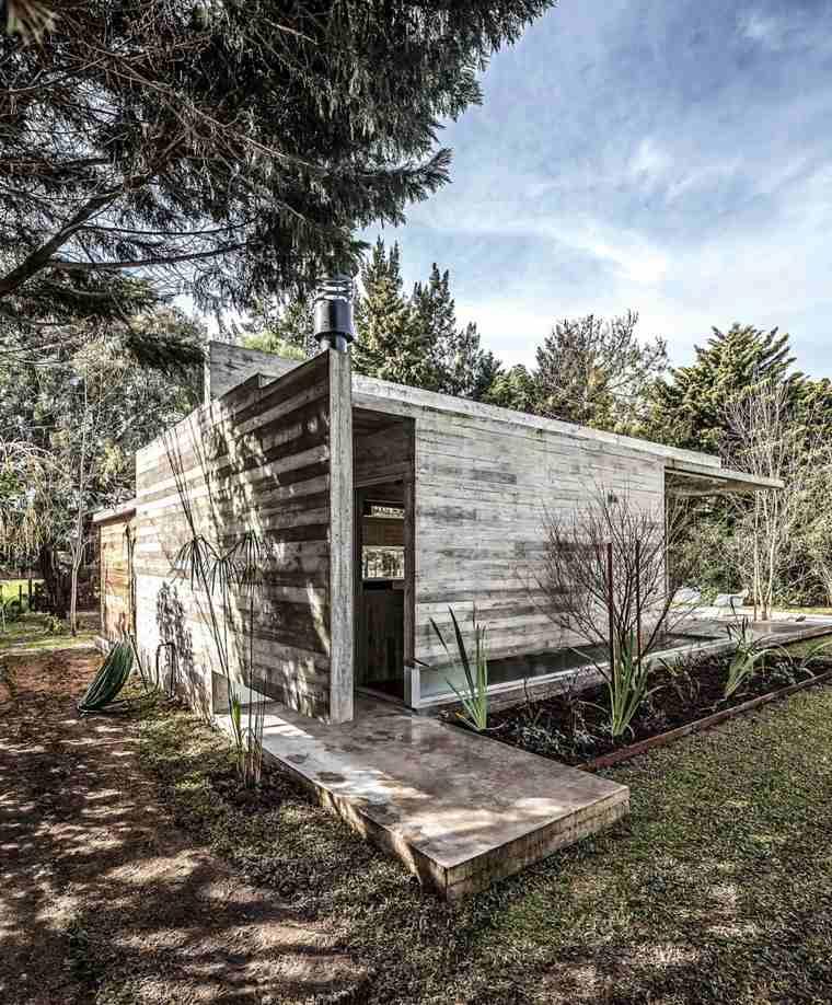 jardines exteriores construcciones muebles ideas