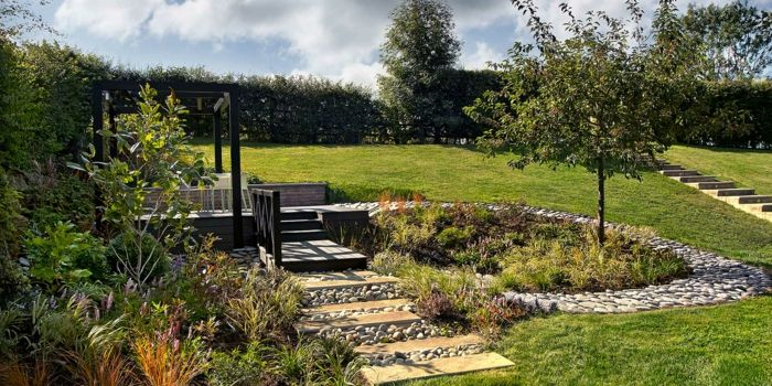 jardines piedras efectos armoniosos plantas