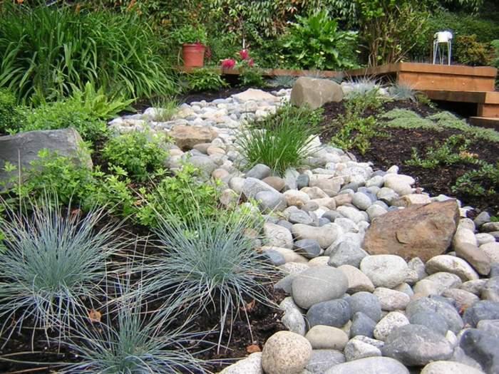 jardines piedras mezcla hierbas salones